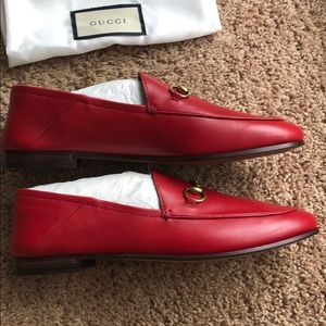 6cfa37c1afb7 Gucci Shoes - Gucci Brixton Horsebit Loafers in Red
